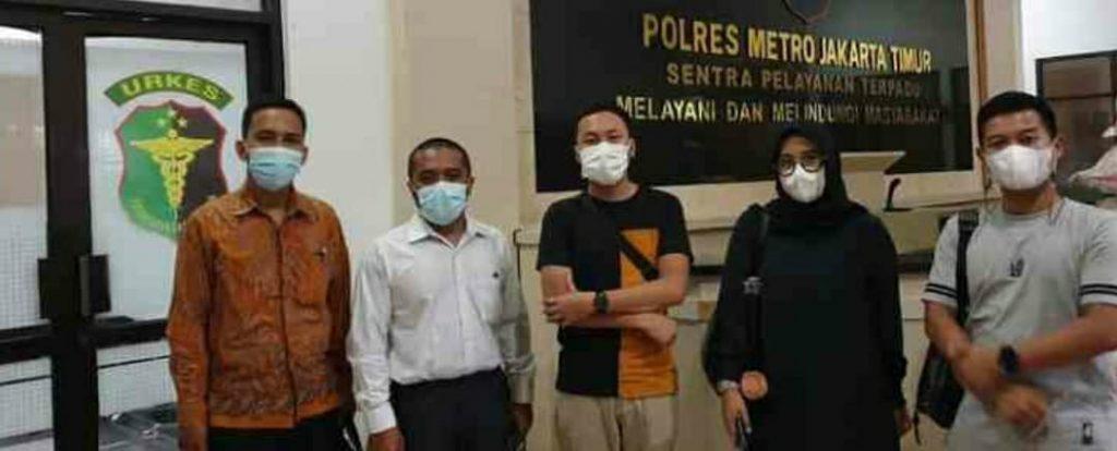 foto, tim kuasa hukum Radhiyan Pet and Care, kordinasi dengan Kepolisian Metropolitan Jakarta Timur